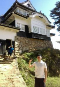 Tom at Matsuyama Castle in Takahashi City, 2017