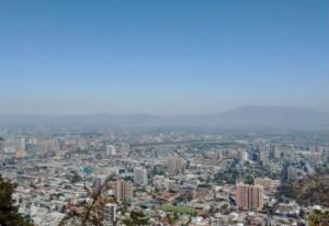 Santiago de Chile on a summer day
