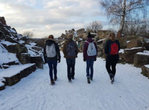 Hiking with friends through Stuttgart