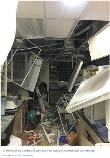 hawaii chem lab explosion