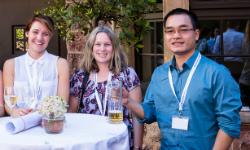 Lieke van der Hulst, dr Julie Culbert and dr Duc-Truc Pham in Wartburg Castle, Germany