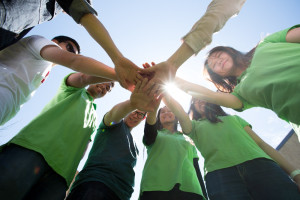 University of Adelaide Volunteers. Pic James Knowler / @jkcrewphotos
