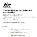 Australian Constitution title page