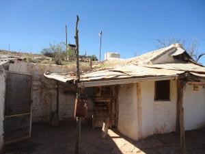 A historic miner's hut in Andamooka