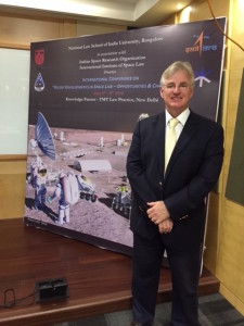 """Associate Professor Dale Stephens at the Conference on """"Recent Developments in Space Law - Opportunities and Challenges'"""