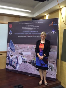 """Professor Melissa de Zwart at the Conference on """"Recent Developments in Space Law - Opportunities and Challenges'"""