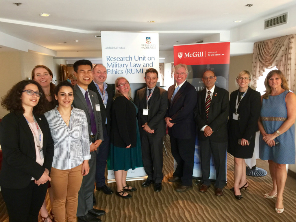 Participants from McGill University and RUMLAE at the 4th Manfred Lachs Conference on Conflicts in Space and the Rule of Law in Montreal