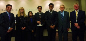 The winning team from National Law School, India University