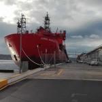 Australia's Icebreaker Aurora Australis, picture by Dr Nengye Liu