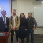 Professor Liu Yongpei with Adelaide Law School students
