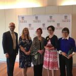 Left to Right: A/Prof Lorne Neudorf, Prof Melissa de Zwart, The Hon Margaret Nyland AM, Ms Annabel Crabb, Ms Moya Dodd