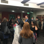 Law students chat to Solicitor-General Chris Bleby SC at a recent Next Steps event
