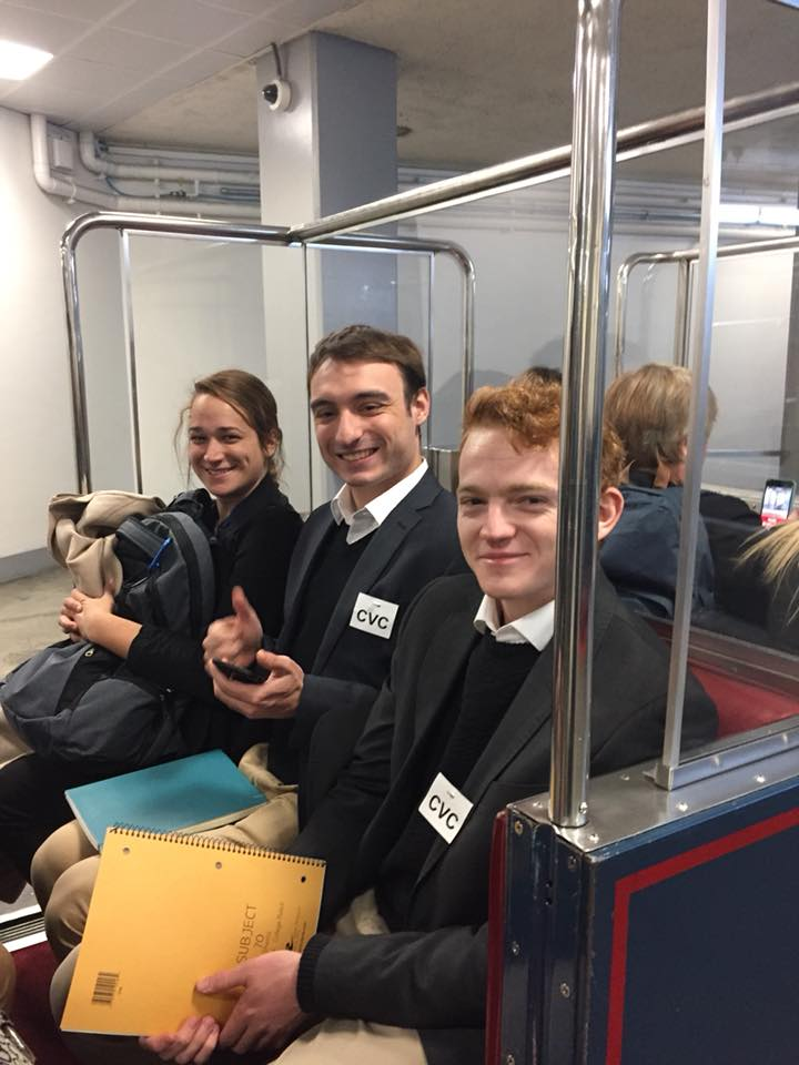 Shannon, Joel and Angus on the Train