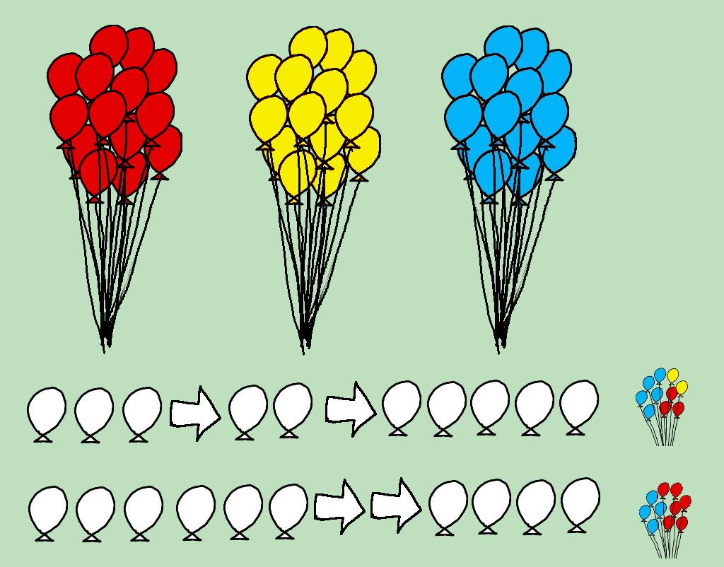 choosing coloured balloons