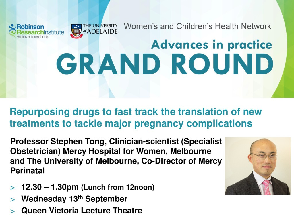 WCH-RRI Co-hosted Grand Rounds Prof Stephen Tong
