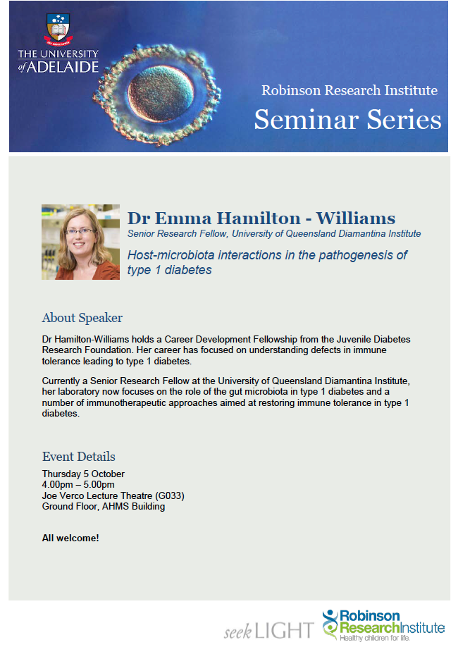 Flyer for Research Seminar