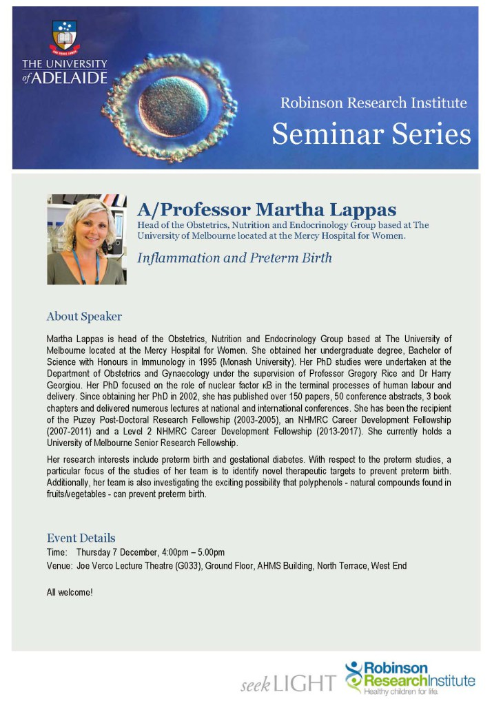 RRI Seminar Flyer - AProf Martha Lappas