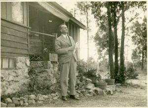 Hooper Brewster Jones listening to bird calls