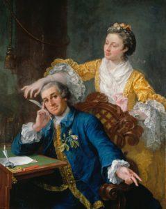 Painting by Hogarth of Mr David and Mrs Eva Maria Garrick.