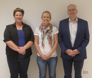 Presenters at the Innovative Teaching @ Waite Exhibition. (Left to right: Kerry Wilkinson, Ashlea Doolette and David Wilson)
